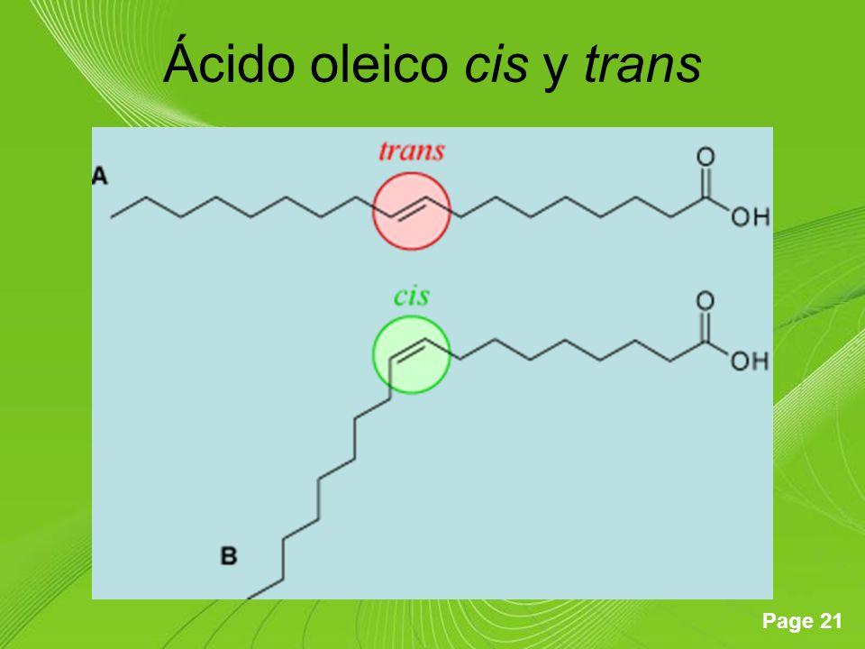 Page 21 Ácido oleico cis y trans