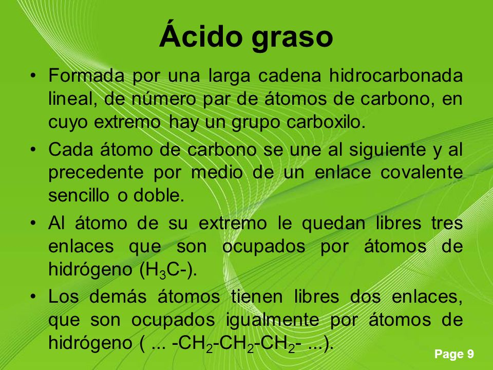 Page 20 Clasificación Ácidos grasos insaturados.–Ácidos grasos cis.