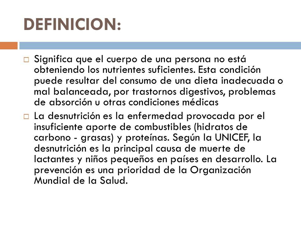BIBLIOGRAFIAS: http://www.monografias.com/trabajos15/desnutrici on/desnutricion.shtml http://www.monografias.com/trabajos15/desnutrici on/desnutricion.shtml http://www.buenastareas.com/ensayos/La- Desnutricion-En-Mexico/16029.html http://www.buenastareas.com/ensayos/La- Desnutricion-En-Mexico/16029.html http://www.facmed.unam.mx/deptos/familiar/bol7 5/desnutricion.html http://www.facmed.unam.mx/deptos/familiar/bol7 5/desnutricion.html http://www.medicoensudomicilio.com/paginas/pagi nas/desnutricion-marasmo-kwashiorkor-mixta.html http://www.medicoensudomicilio.com/paginas/pagi nas/desnutricion-marasmo-kwashiorkor-mixta.html