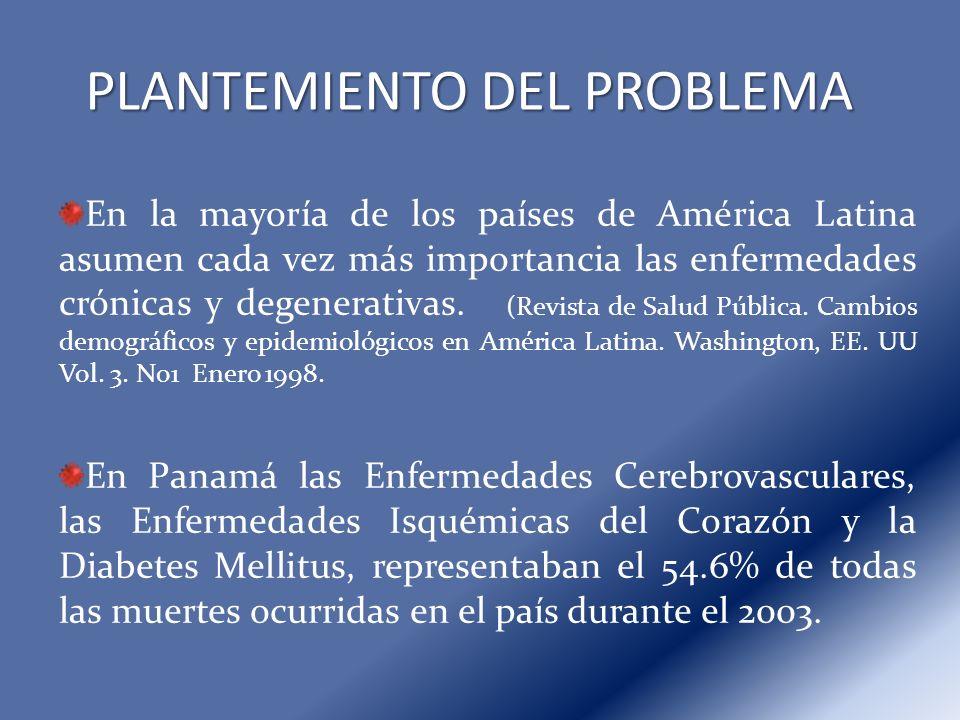 En la mayoría de los países de América Latina asumen cada vez más importancia las enfermedades crónicas y degenerativas. (Revista de Salud Pública. Ca