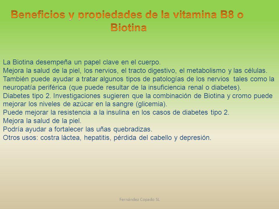 La Biotina desempeña un papel clave en el cuerpo. Mejora la salud de la piel, los nervios, el tracto digestivo, el metabolismo y las células. También