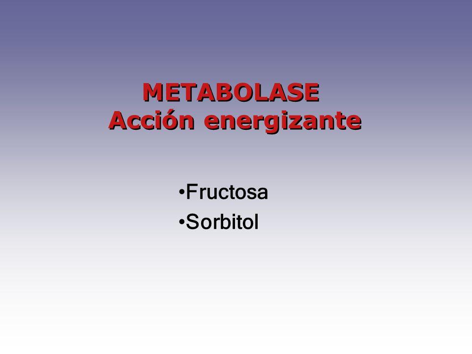 Fructosa Sorbitol METABOLASE Acción energizante