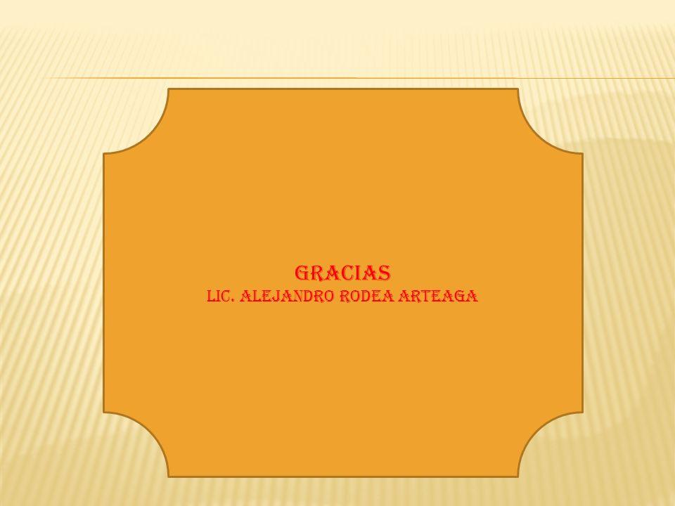 Gracias Lic. Alejandro Rodea Arteaga