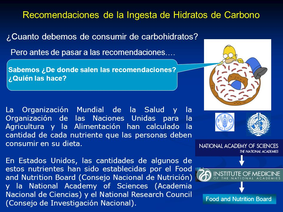 Recomendaciones de la Ingesta de Hidratos de Carbono ¿Cuanto debemos de consumir de carbohidratos.