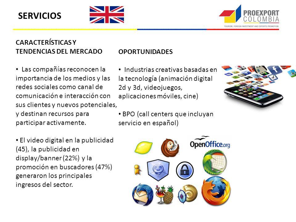 CARACTERÍSTICAS Y TENDENCIAS DEL MERCADO Las compañías reconocen la importancia de los medios y las redes sociales como canal de comunicación e intera