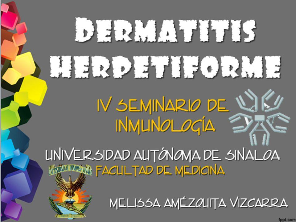 D ERMATITIS HERPETIFORME IV Seminario de Inmunología Universidad Autónoma de Sinaloa Facultad de medicina Melissa Amézquita Vizcarra