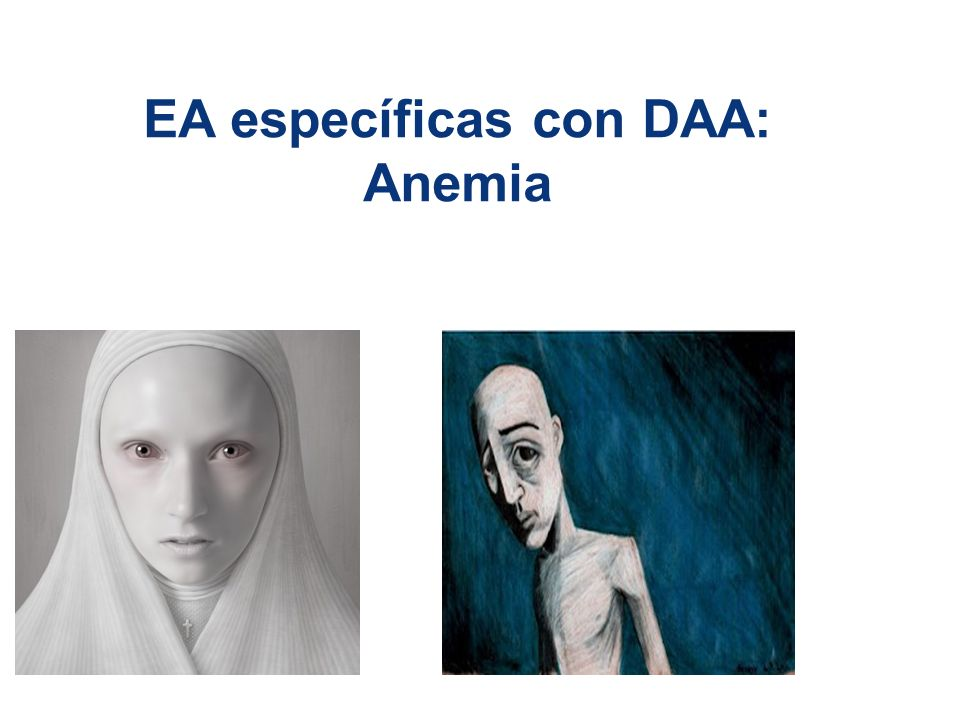 EA específicas con DAA: Anemia