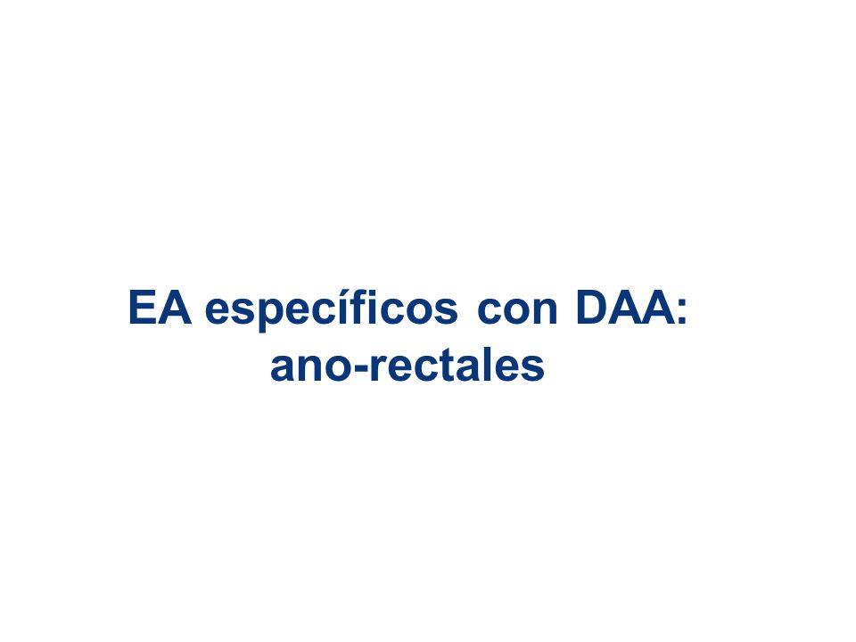 EA específicos con DAA: ano-rectales