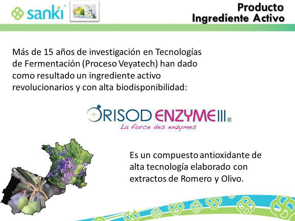 Producto Ingrediente Activo Más de 15 años de investigación en Tecnologías de Fermentación (Proceso Veyatech) han dado como resultado un ingrediente a