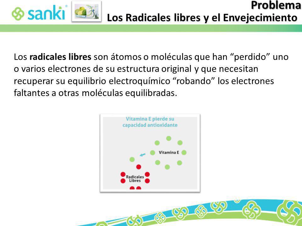 Problema Los Radicales libres y el Envejecimiento Los radicales libres son átomos o moléculas que han perdido uno o varios electrones de su estructura