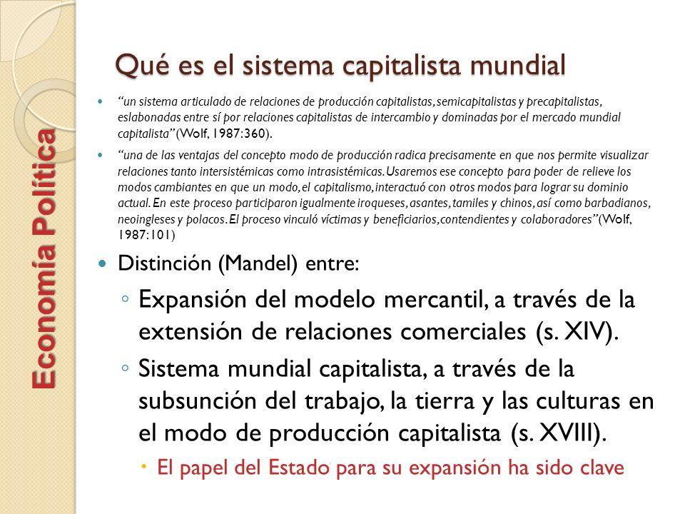 Qué es el sistema capitalista mundial un sistema articulado de relaciones de producción capitalistas, semicapitalistas y precapitalistas, eslabonadas