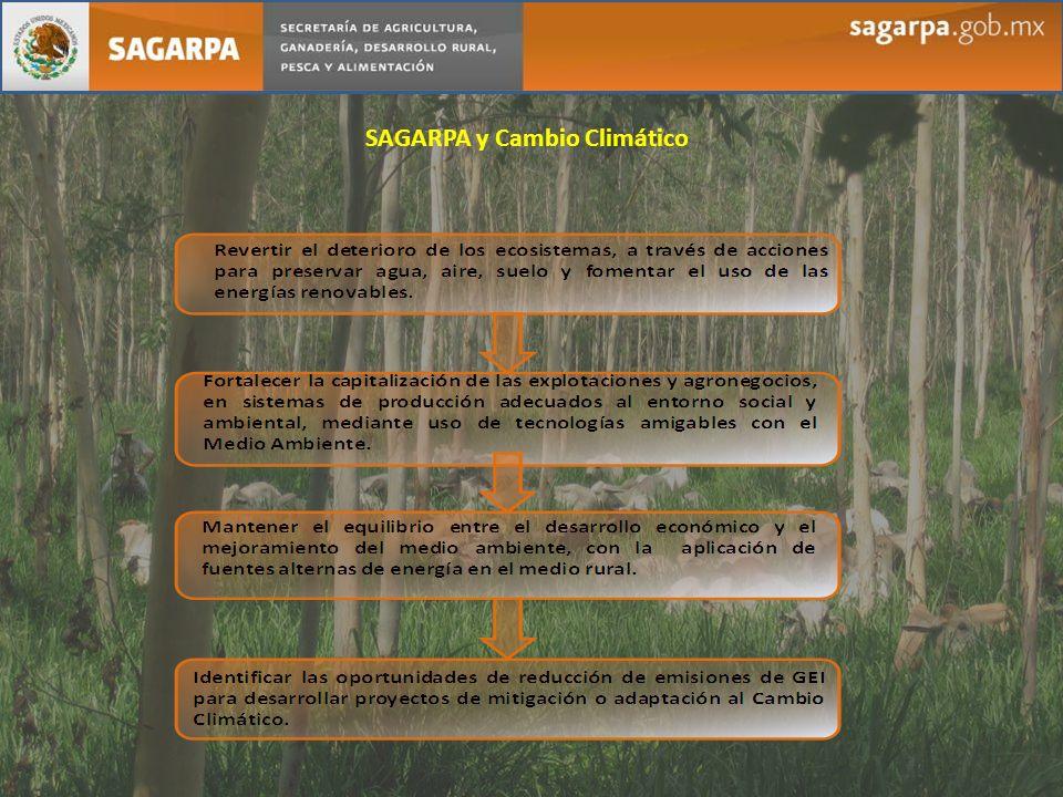 SAGARPA y Cambio Climático
