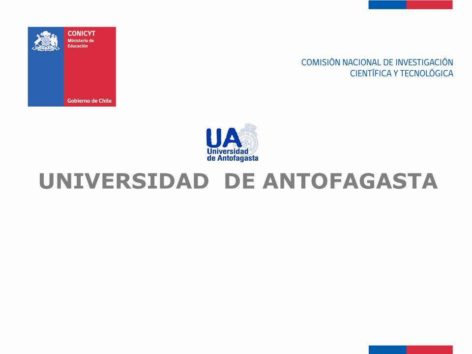 FONDEF-Fondo de Fomento UNIVERSIDAD DE ANTOFAGASTA
