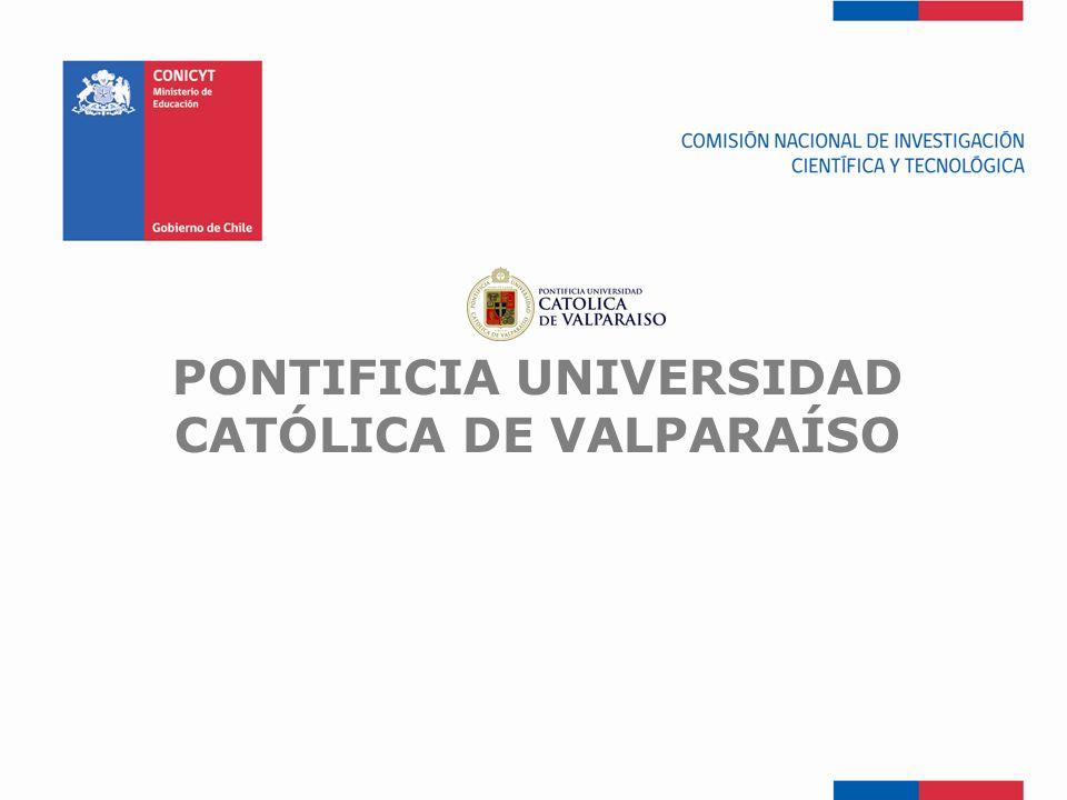FONDEF-Fondo de Fomento PONTIFICIA UNIVERSIDAD CATÓLICA DE VALPARAÍSO