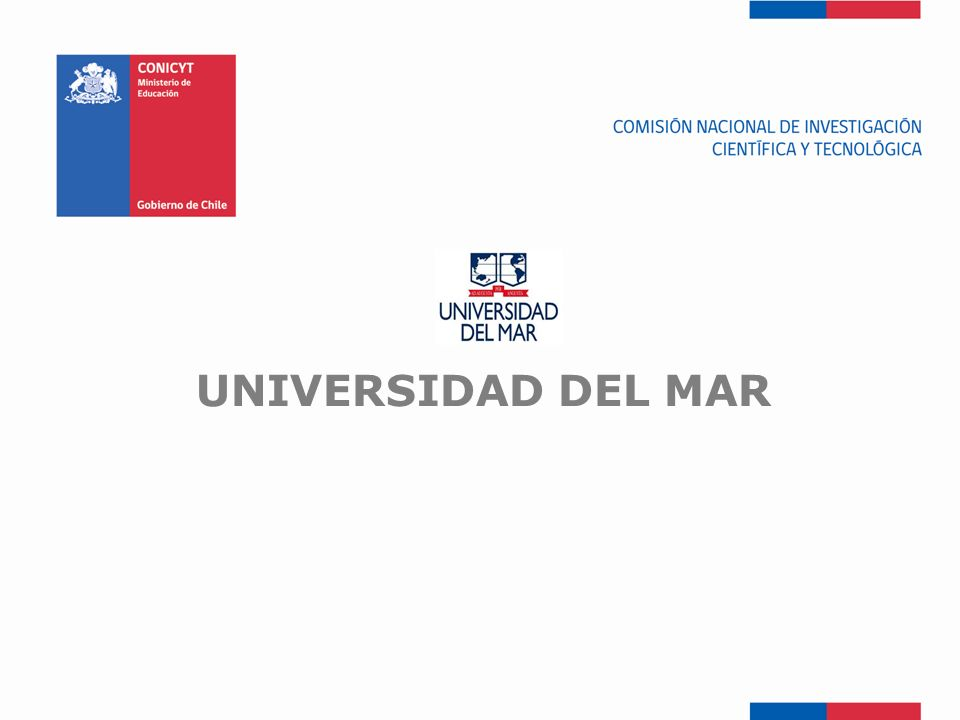 FONDEF-Fondo de Fomento UNIVERSIDAD DEL MAR