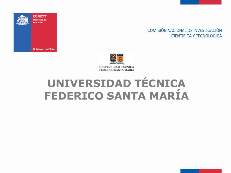 FONDEF-Fondo de Fomento UNIVERSIDAD TÉCNICA FEDERICO SANTA MARÍA
