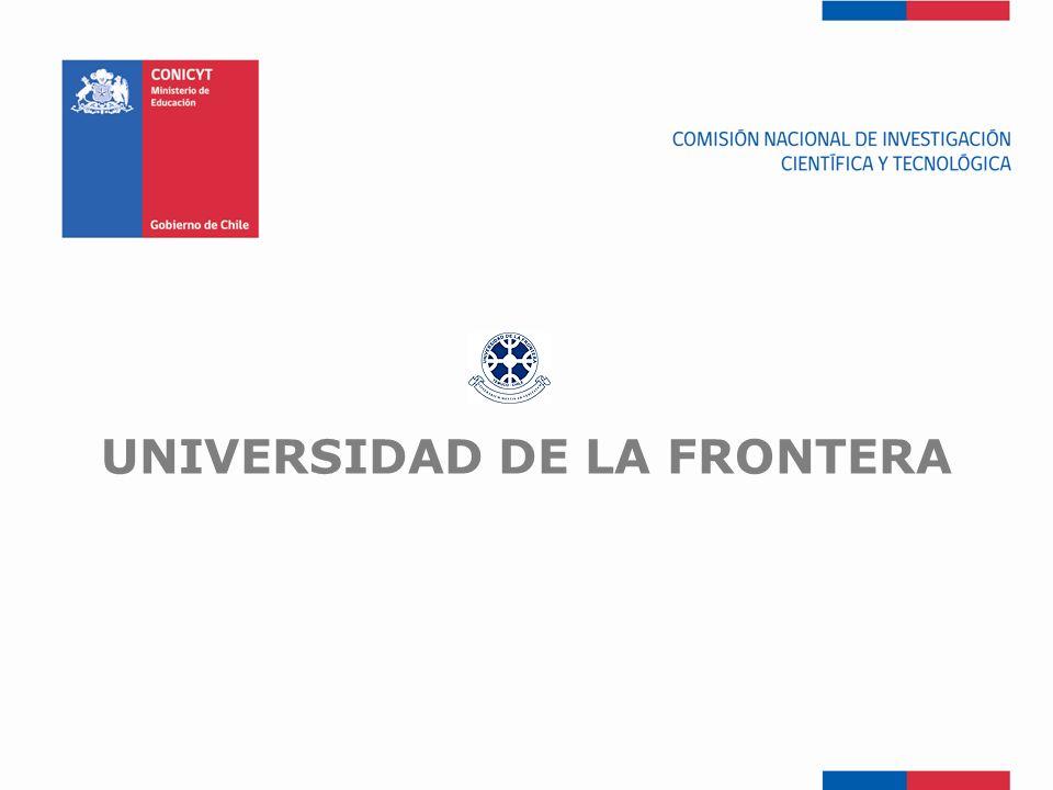 FONDEF-Fondo de Fomento UNIVERSIDAD DE LA FRONTERA