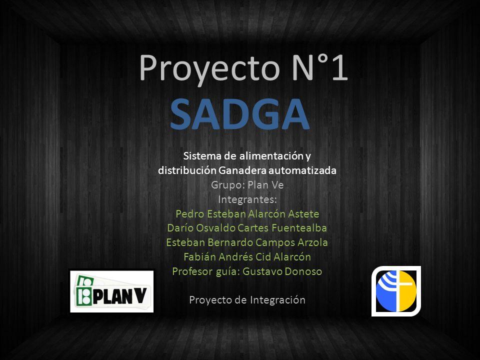 Proyecto N°1 Sistema de alimentación y distribución Ganadera automatizada Grupo: Plan Ve Integrantes: Pedro Esteban Alarcón Astete Darío Osvaldo Carte