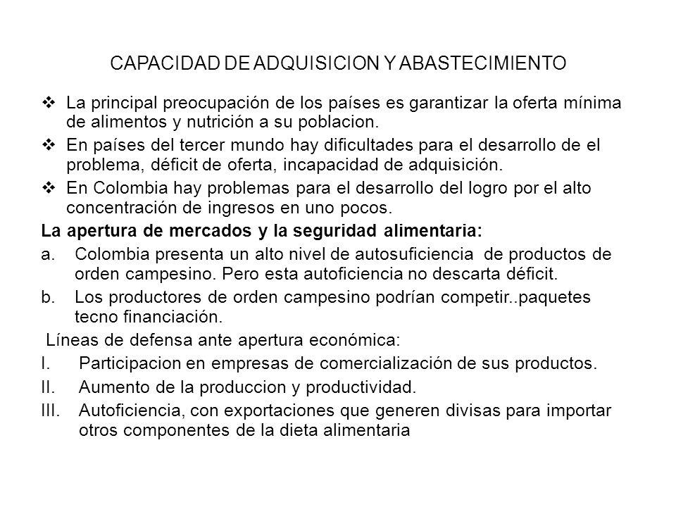 La teoría integral y la seguridad alimentaria de colombia El modelo integral, se considera que depende fundamentalmente de la distribución de ingresos de los intermediarios tradicionales.