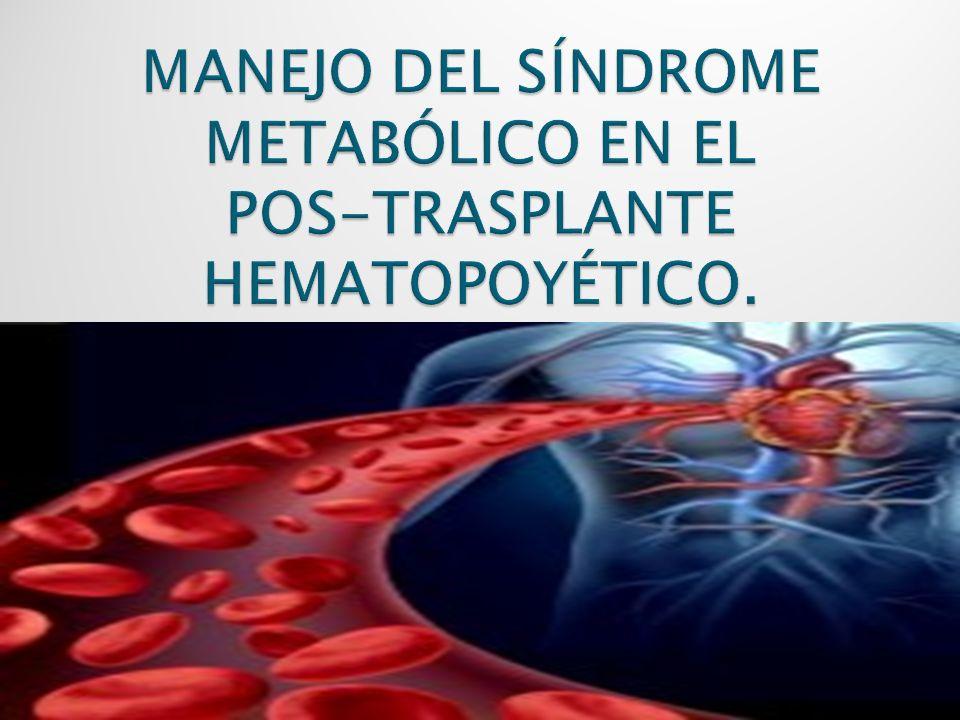 Definición.- Grupo de F.R que incrementa la posibilidad de desarrollar enfermedad cardíaca, diabetes mellitus y accidentes cerebrovasculares.