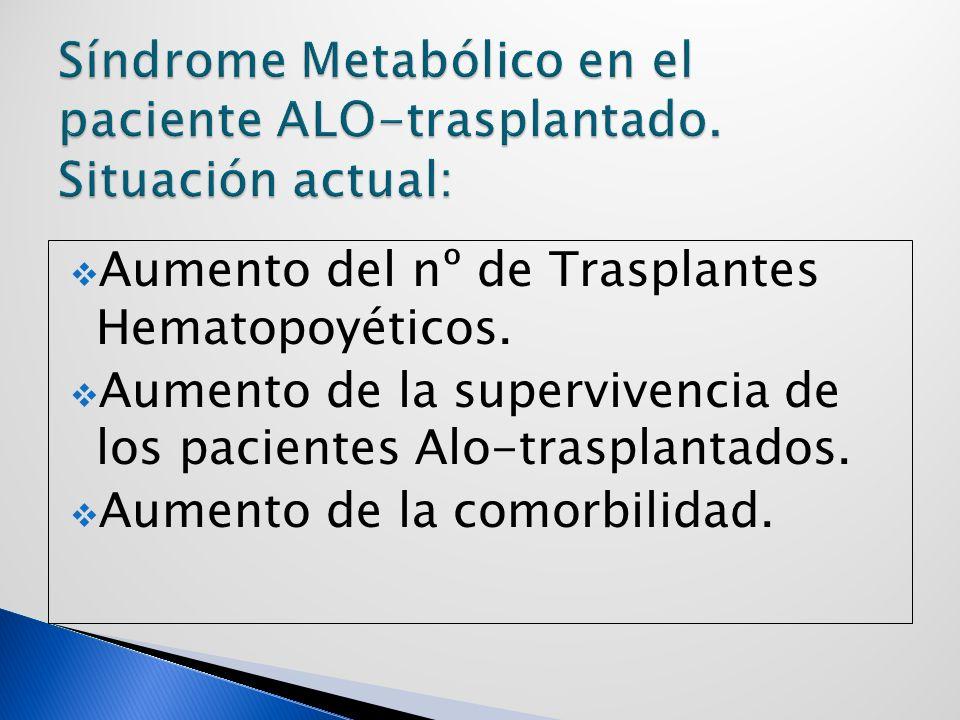 Aumento del nº de Trasplantes Hematopoyéticos.