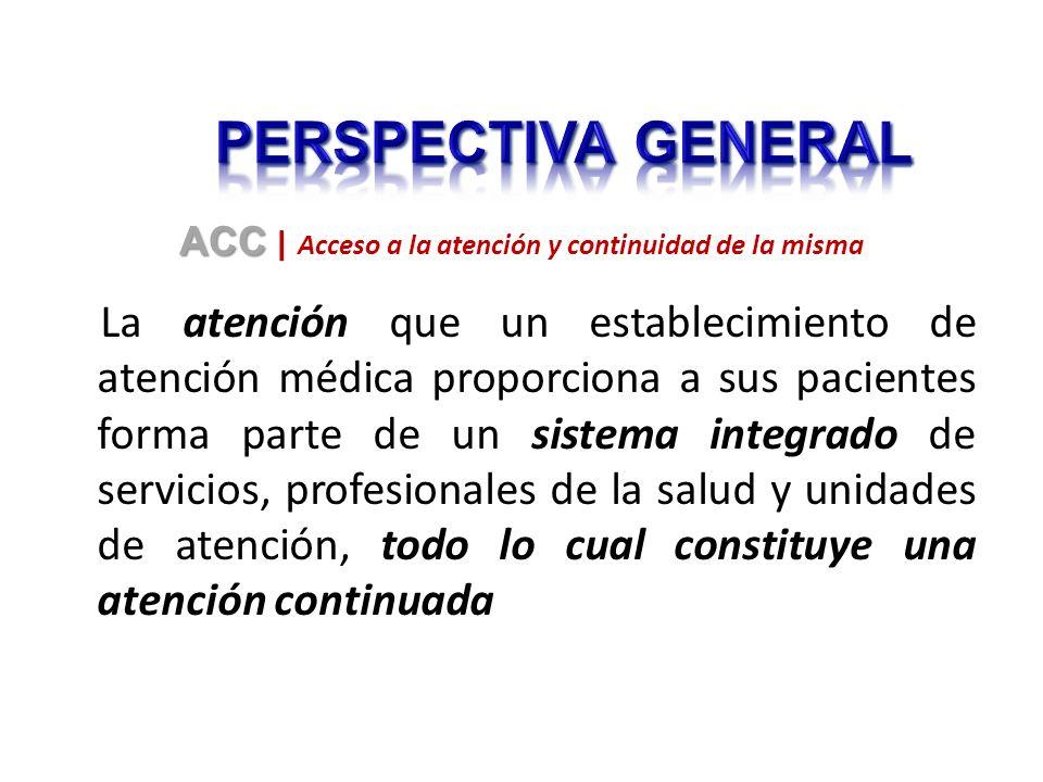 La atención que un establecimiento de atención médica proporciona a sus pacientes forma parte de un sistema integrado de servicios, profesionales de l