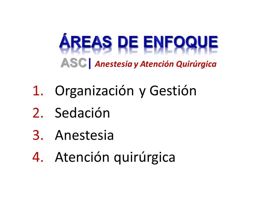 1.Organización y Gestión 2.Sedación 3.Anestesia 4.Atención quirúrgica ASC ASC | Anestesia y Atención Quirúrgica
