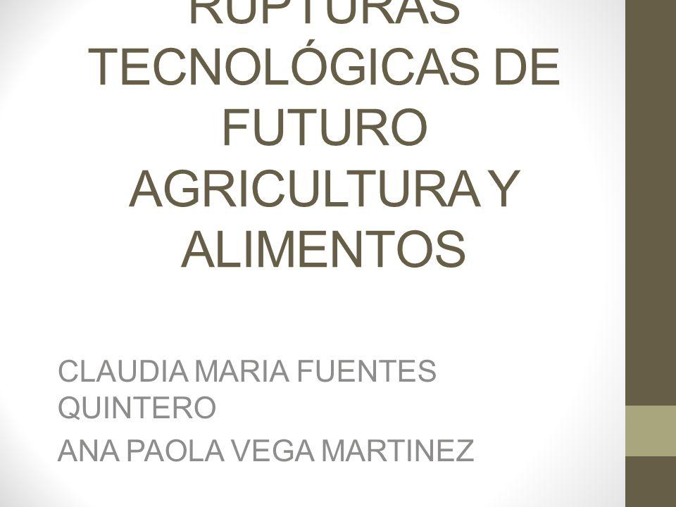 VARIABLES DE CAMBIO DE FUTURO: INOCUIDAD BIOSEGURIDAD COSTOS MAS BAJOS NUTRICIÓN AGRICULTURA MAS SOSTENIBLE SEGURIDAD ALIMENTARIA