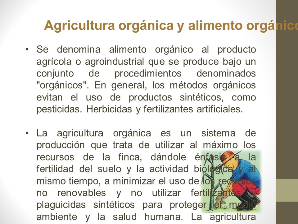 Ejemplo de producción de leche orgánica.