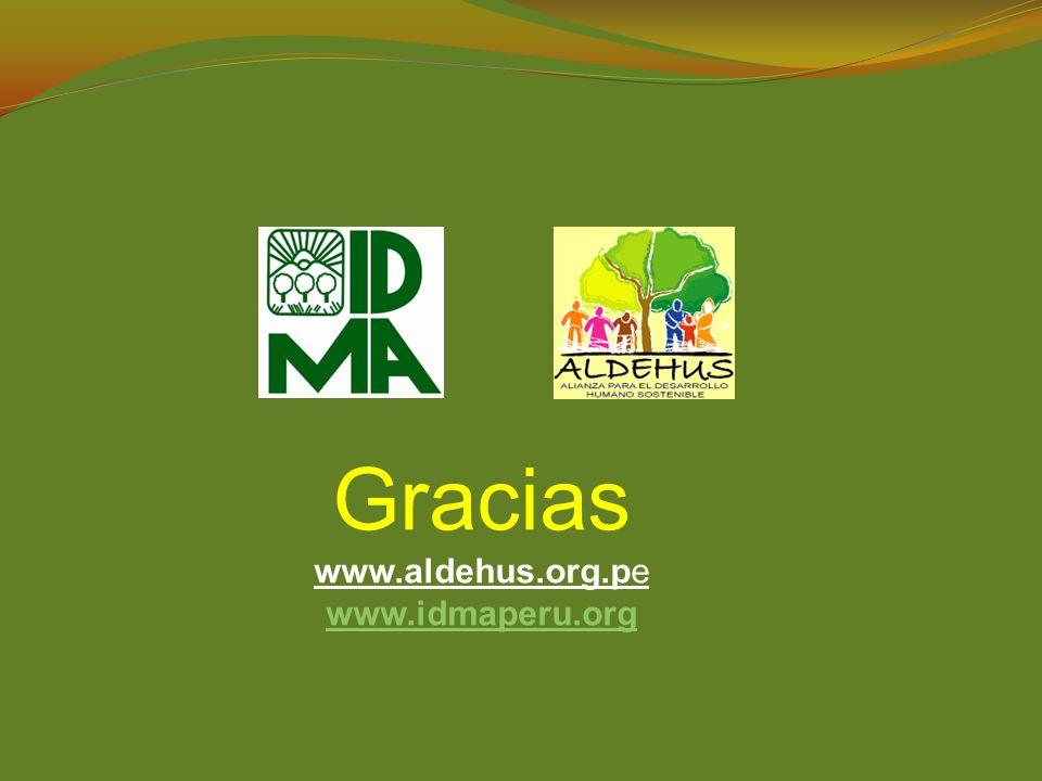 Gracias www.aldehus.org.pe www.idmaperu.org