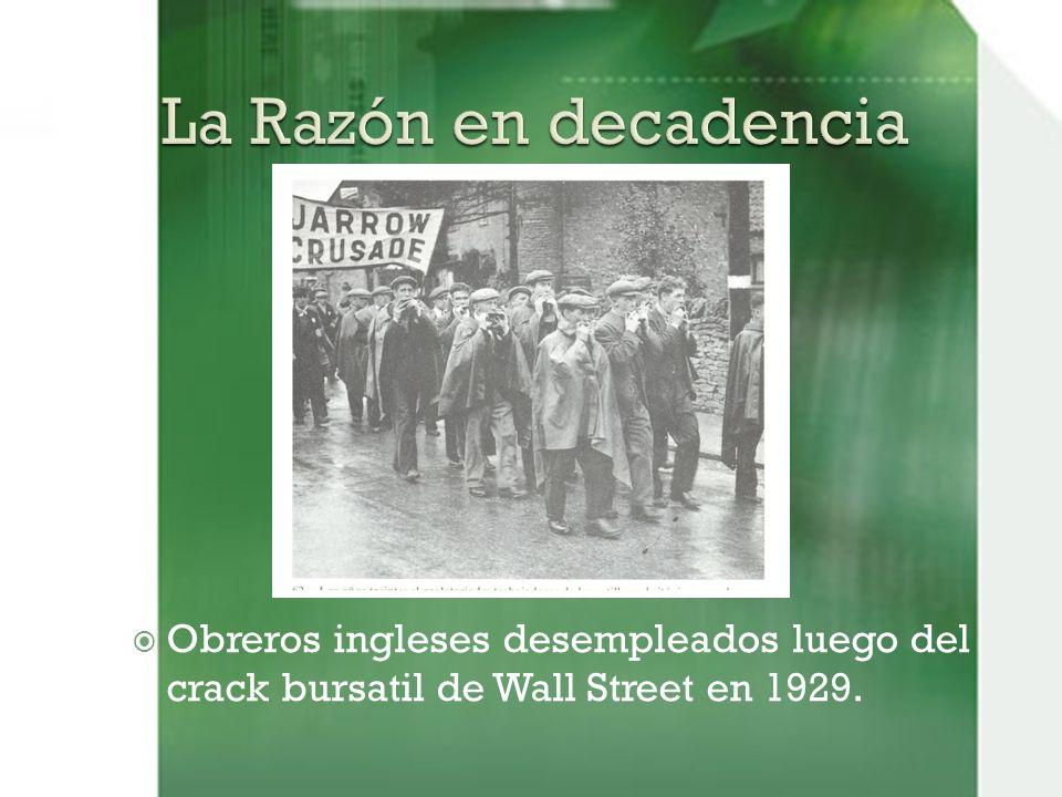 Obreros ingleses desempleados luego del crack bursatil de Wall Street en 1929.