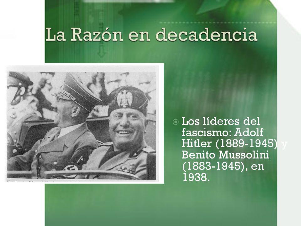 Los líderes del fascismo: Adolf Hitler (1889-1945) y Benito Mussolini (1883-1945), en 1938.