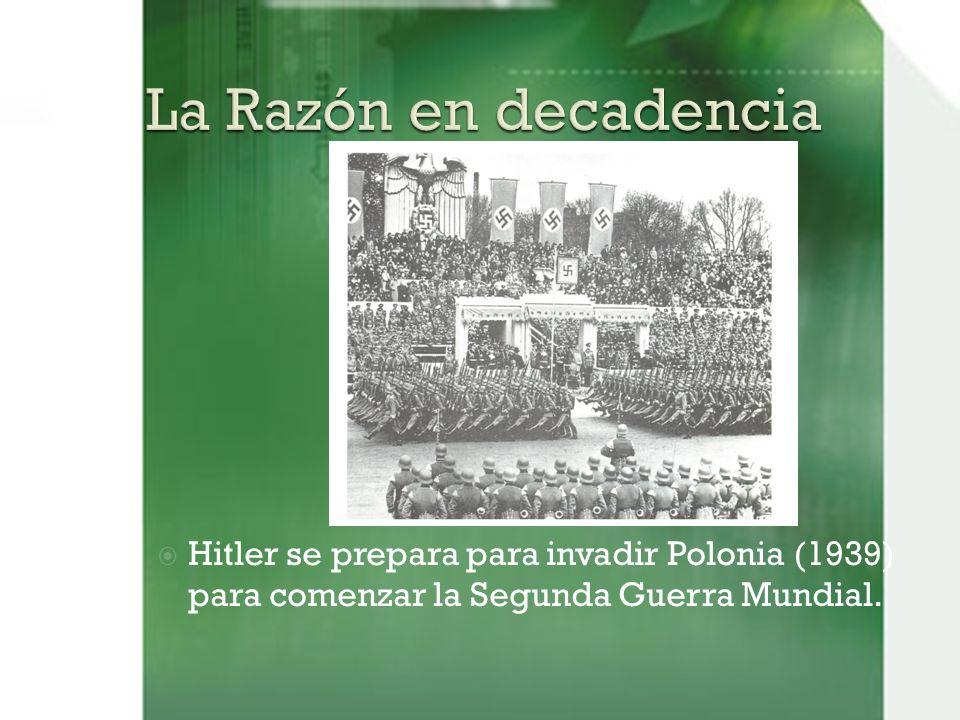 Hitler se prepara para invadir Polonia (1939) para comenzar la Segunda Guerra Mundial.