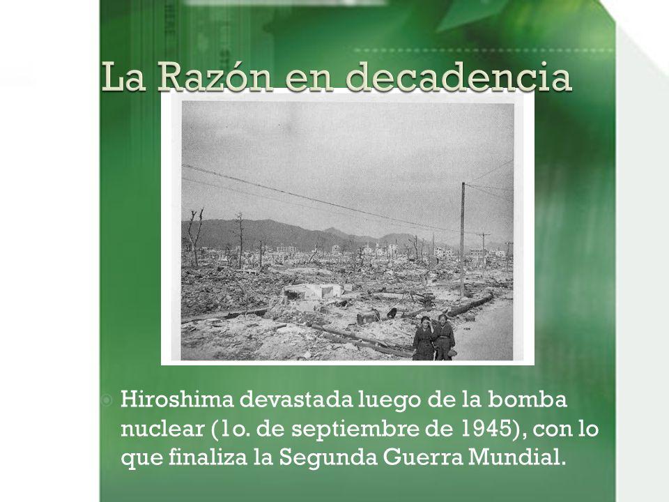 Hiroshima devastada luego de la bomba nuclear (1o.
