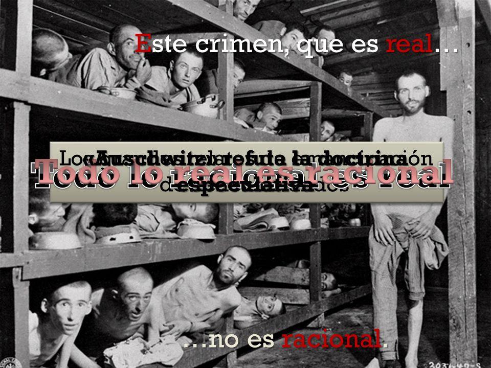 Los grandes relatos de emancipación devienen inválidos «Auschwitz» refuta la doctrina especulativa Este crimen, que es real… …no es racional.