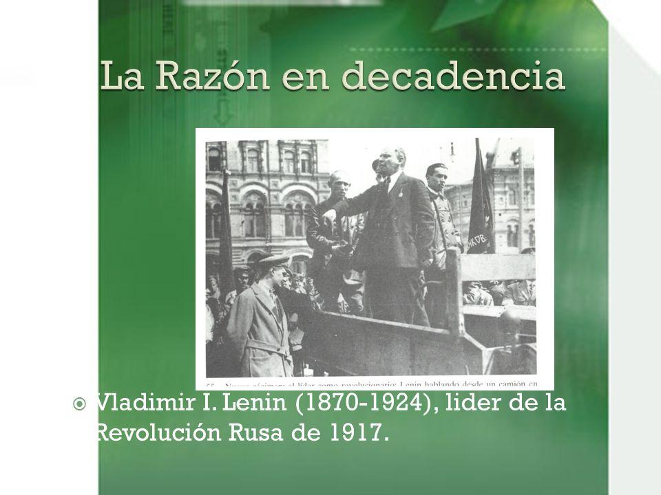 Vladimir I. Lenin (1870-1924), lider de la Revolución Rusa de 1917.