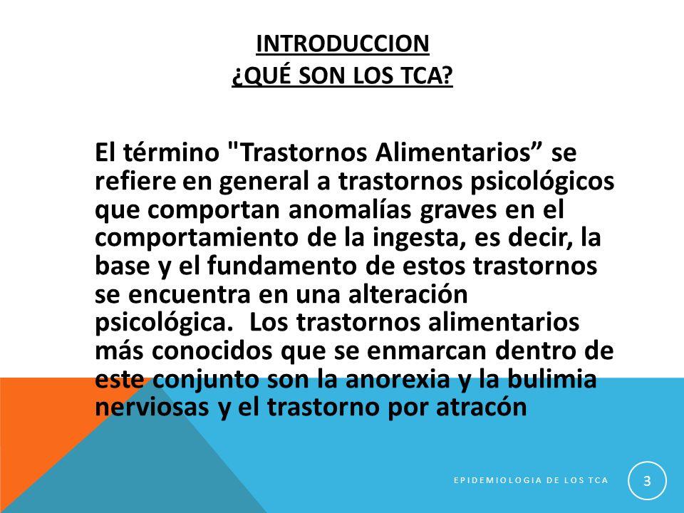 SITUACION ACTUAL En España, los resultados son heterogéneos, con tasas de prevalencia global (ambos sexos) de TCA que oscilan entre 2,91% y 3,71%.