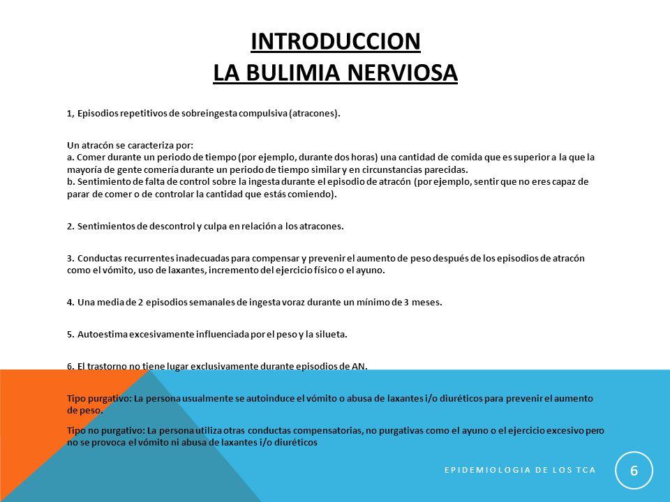 BIBLIOGRAFIA 1.-Los Trastornos de la Conducta Alimentaria (TCA): definición y tipologías.