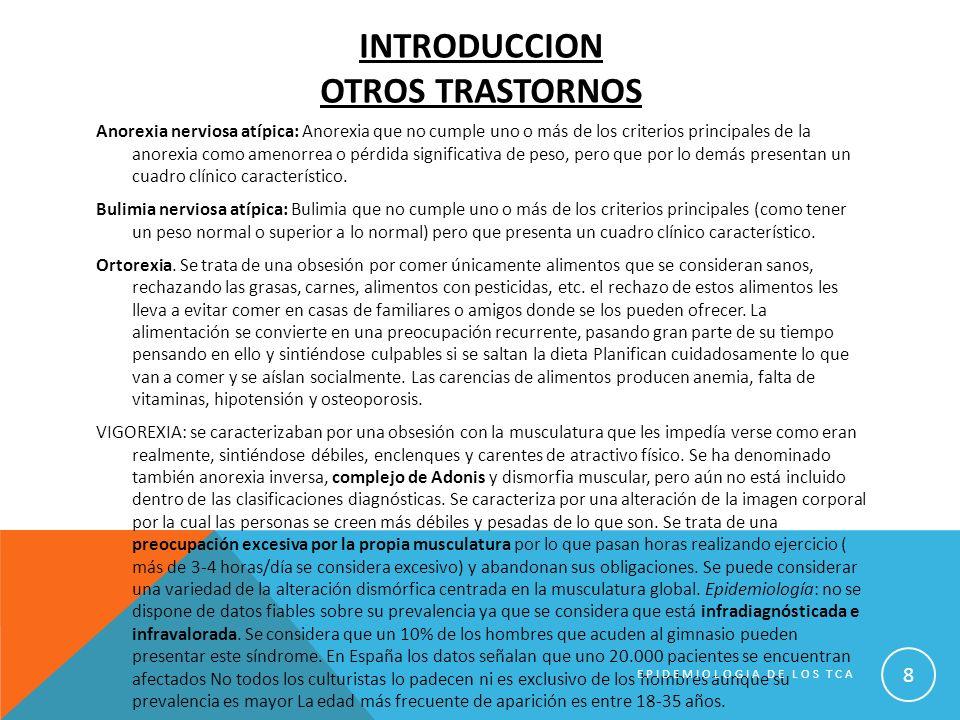 EPIDEMIOLOGIA DE LOS TCA 19