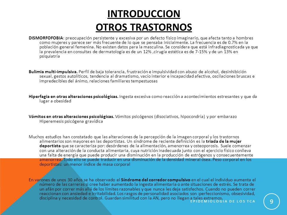 EPIDEMIOLOGIA DE LOS TCA 20