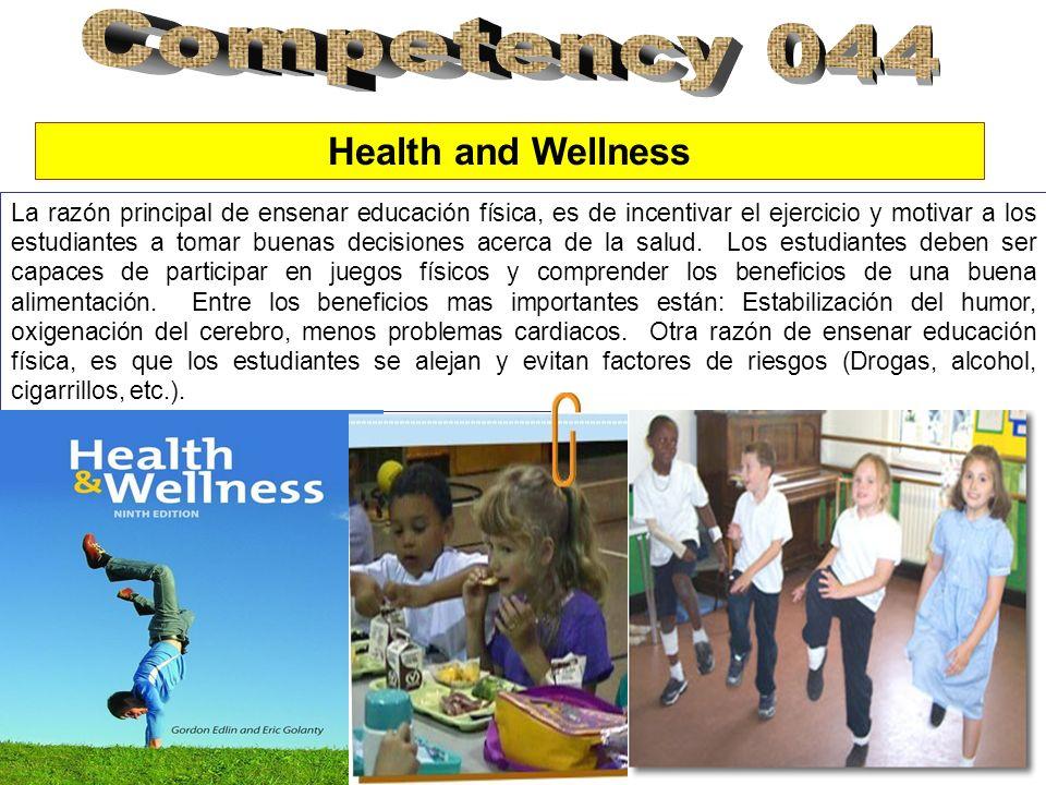 Health and Wellness La razón principal de ensenar educación física, es de incentivar el ejercicio y motivar a los estudiantes a tomar buenas decisiones acerca de la salud.