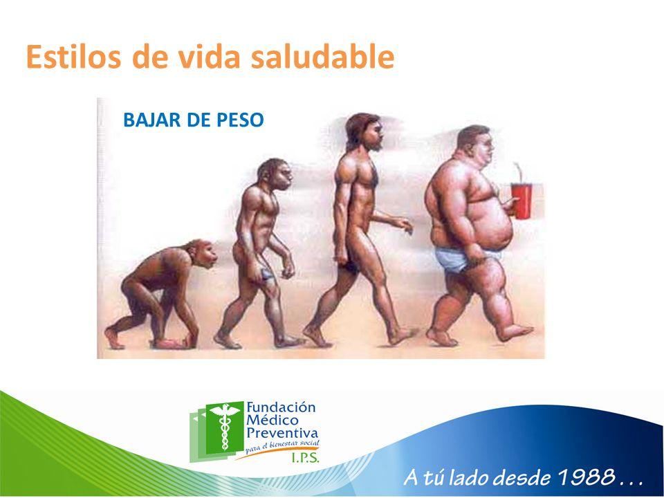 Estilos de vida saludable BAJAR DE PESO