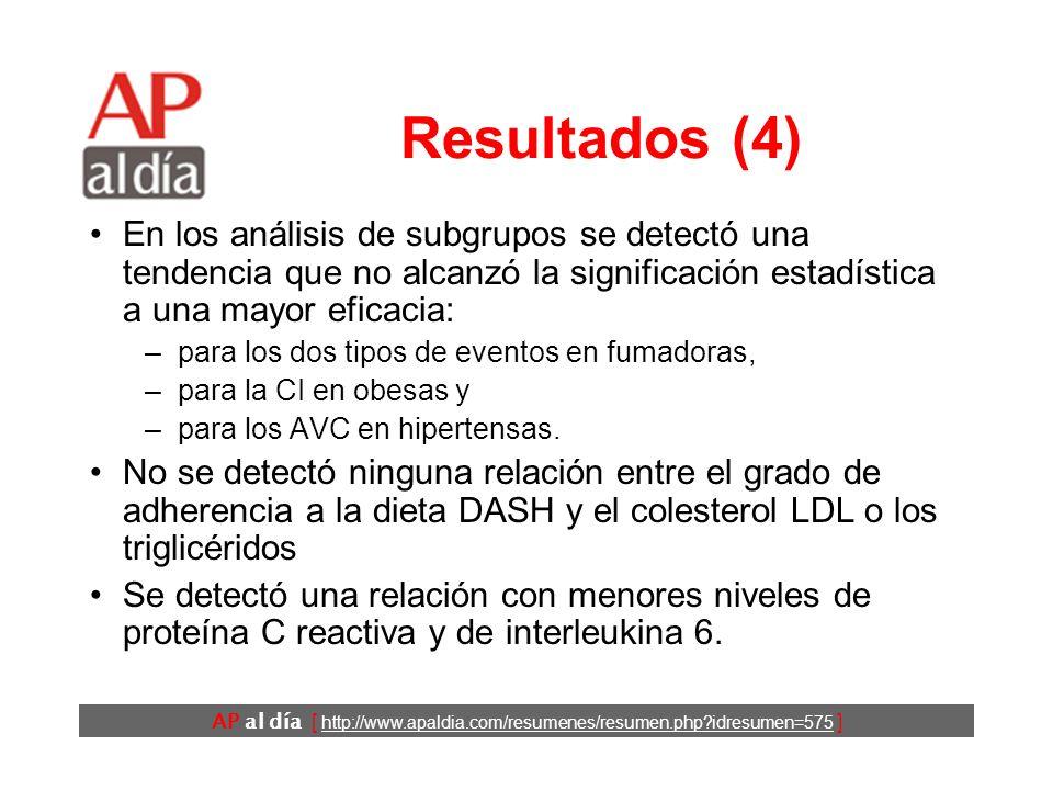 AP al día [ http://www.apaldia.com/resumenes/resumen.php?idresumen=575 ] Resultados (3) P=0,002 P=0,13P=0,56