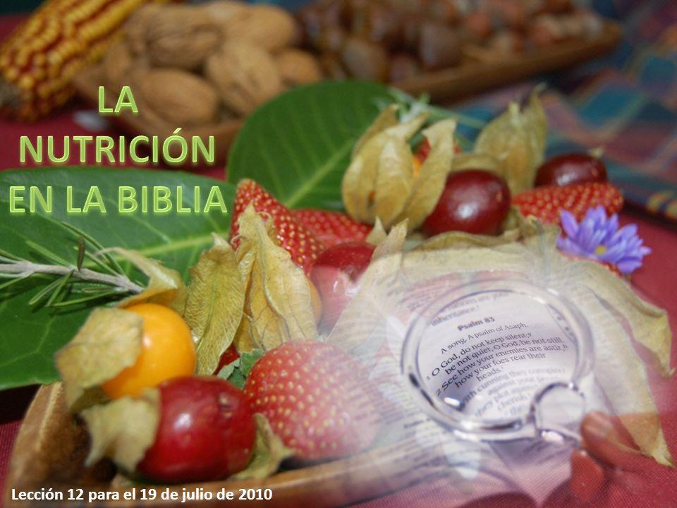 Y dijo Dios: He aquí que os he dado toda planta que da semilla, que está sobre toda la tierra, y todo árbol en que hay fruto y que da semilla; os serán para comer Génesis, 1: 29 La dieta original dada al hombre cuando fue creado consistía en cereales, frutos secos y fruta.