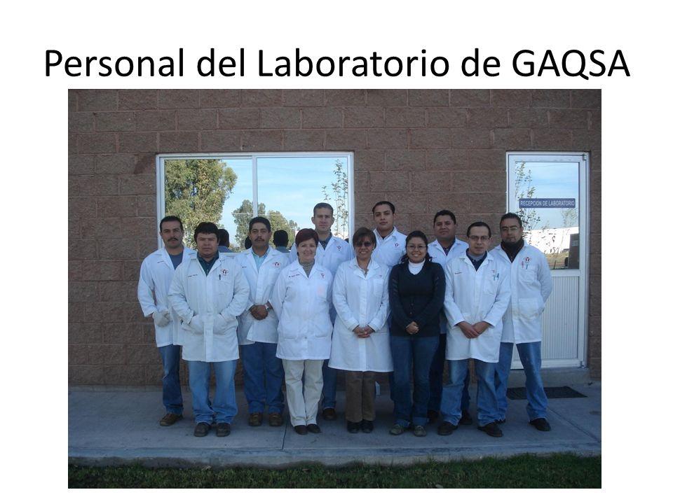 Personal del Laboratorio de GAQSA