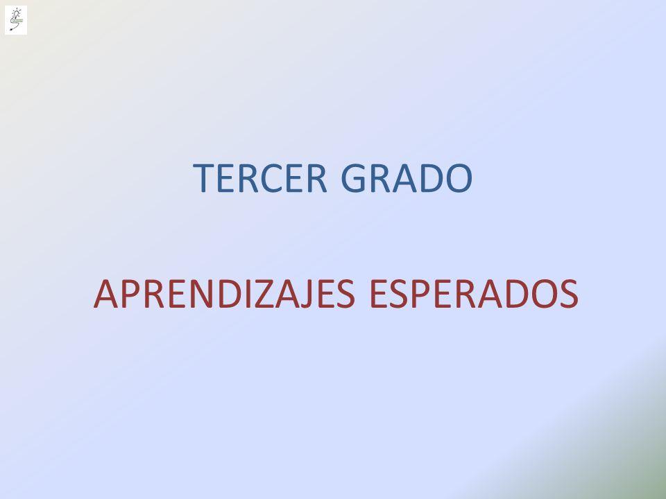 APRENDIZAJES ESPERADOS TERCER GRADO