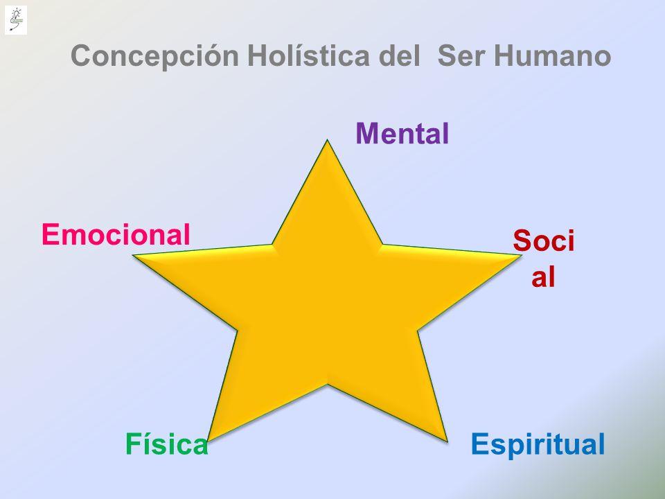 FísicaEspiritual Soci al Mental Concepción Holística del Ser Humano Emocional