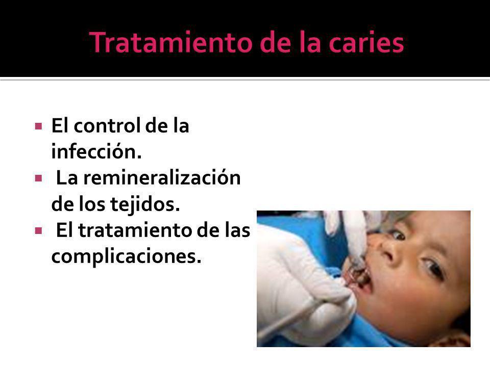 El control de la infección.La remineralización de los tejidos.