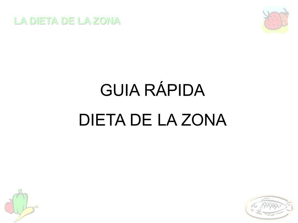 LA DIETA DE LA ZONA GUIA RÁPIDA DIETA DE LA ZONA
