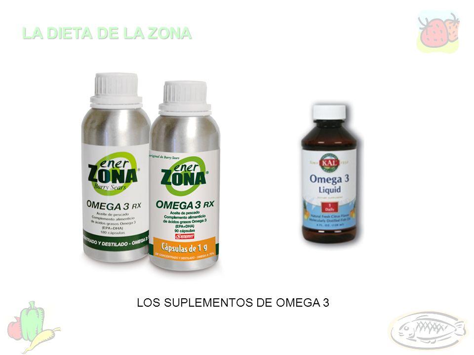 LA DIETA DE LA ZONA LOS SUPLEMENTOS DE OMEGA 3